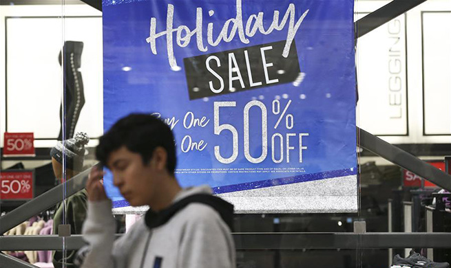 People do shopping for Black Friday sales in Ontario, U.S.
