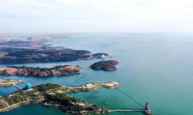 Scenery of Danjiangkou Reservoir region in Nanyang, central China's Henan