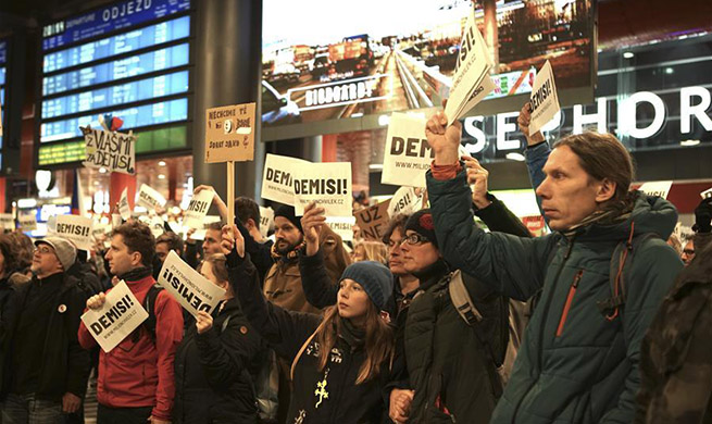 Demonstrators demand Czech PM's resignation