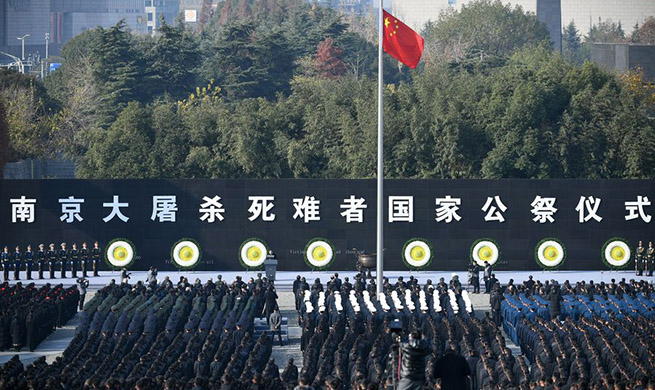Xinhua Headlines: China holds national memorial ceremony for Nanjing Massacre victims