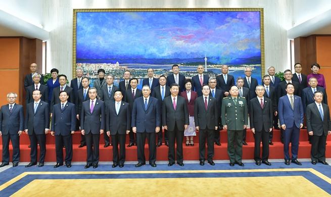 President Xi praises work of Macao's principal officials, heads of legislative, judicial organs