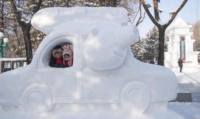32nd Harbin Sun Island Int'l Snow Sculpture Art Exposition held in NE China