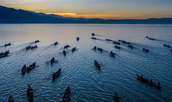 Fishing ban ends on Xingyun Lake in SW China's Yunnan