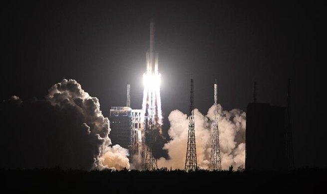 China's largest carrier rocket Long March-5 makes new flight