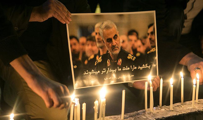 People mourn for top Iranian commander killed in U.S. airstrike