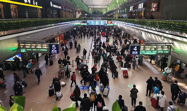 In pics: Beijing's railway stations on 1st day of travel rush