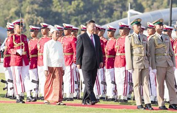 Xi attends welcome banquet hosted by Myanmar president