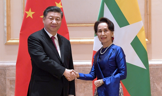 Xi meets Myanmar State Counsellor Aung San Suu Kyi