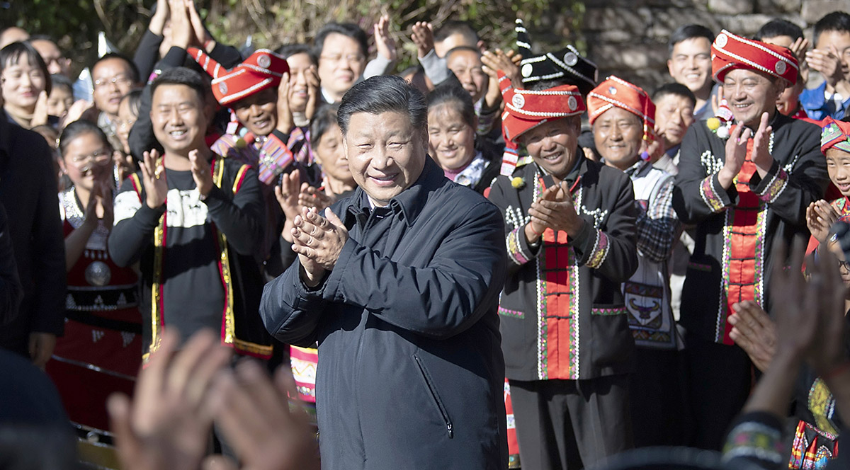Xi congratulates Wa ethnic group villagers for getting rid of poverty