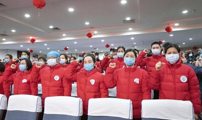 More Chinese medical teams leave for Wuhan to aid novel coronavirus control efforts