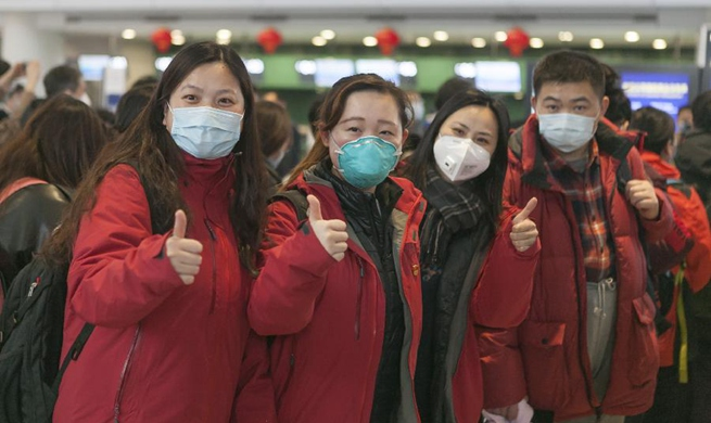 Second batch of medical workers depart to Wuhan