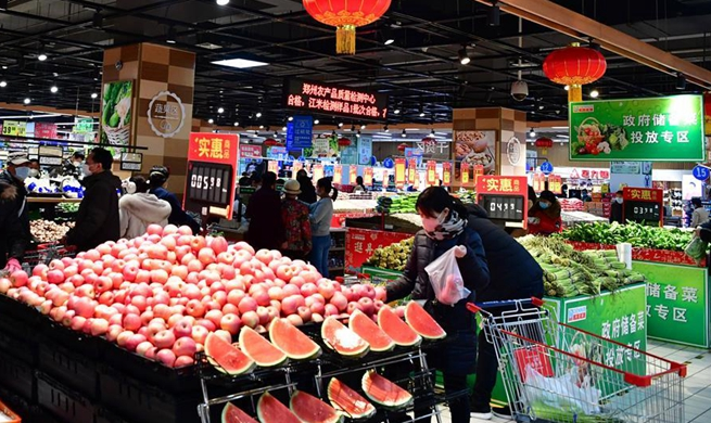 Supply of daily necessities remains steady in major Chinese cities amid coronavirus outbreak