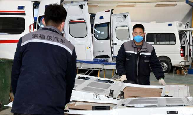 Workers back to work early to ensure ambulances supply in Qingdao