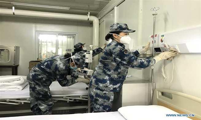 Medical staff make final preparations at Huoshenshan Hospital