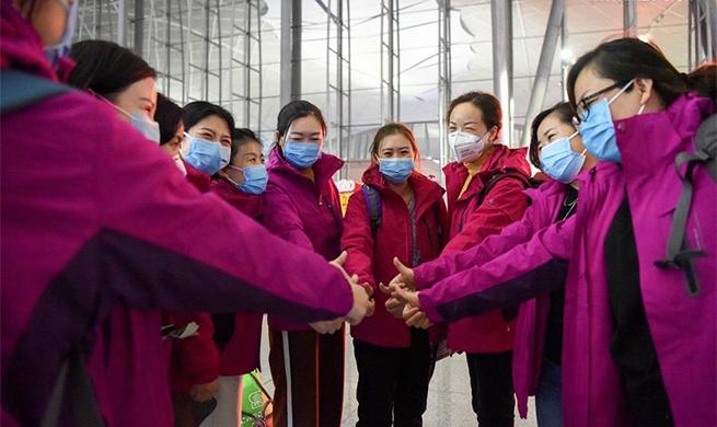 Xinjiang sends 2nd batch of medics to Wuhan