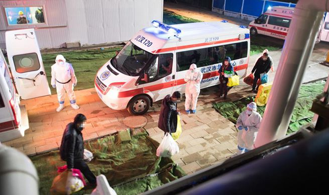 Makeshift hospital in Wuhan receives coronavirus-infected patients