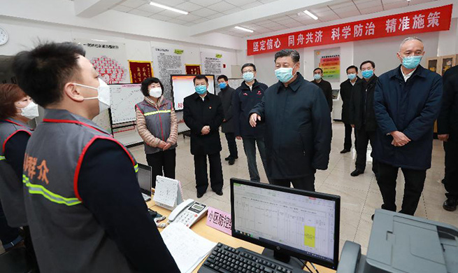 Xi Focus: Xi vows to win people's war against novel coronavirus