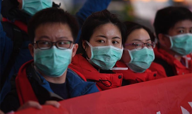 310-member medical team of Jiangsu departs for Huangshi to aid novel coronavirus control work