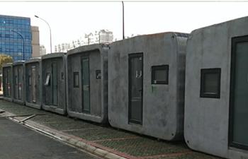 Coronavirus fight: 3D-printed houses installed in hospital in Hubei