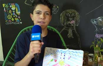 Children in Latin America countries send #FightVirus wishes to China by drawings