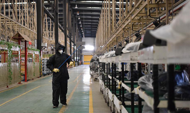 Companies in Hebei resume production with epidemic prevention measures