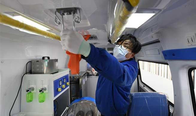 Motor company rushes to make negative pressure ambulances in Wuxi