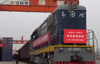 Sea-rail freight service resumes regular operation in Zhengzhou, China