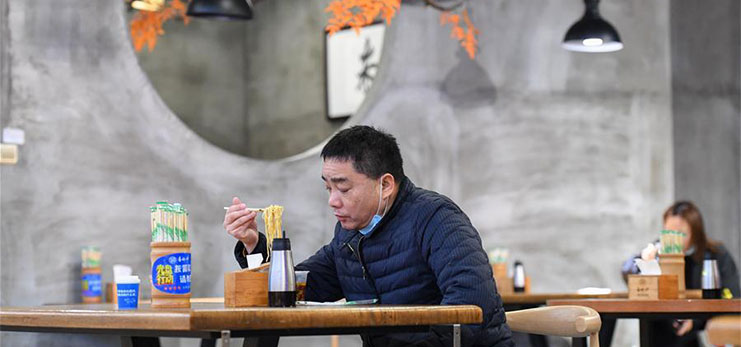 Restaurants resume work with epidemic prevention measures in Changsha