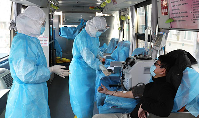 Recovered patients of coronavirus infection donate plasma in Hebei