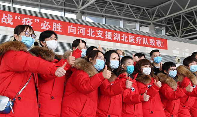 8th batch of 175 medical workers from Hebei departs for Hubei