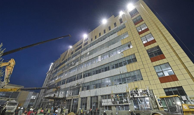 Hospital complex building for infectious disease prevention delivered in Yinchuan