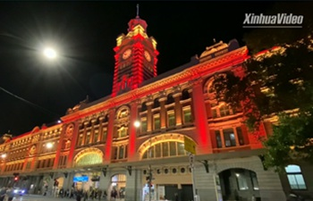 Melbourne landmarks light up in red in solidarity with China