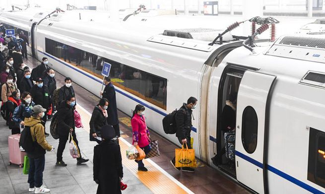 Migrant workers take special bullet train to resume work