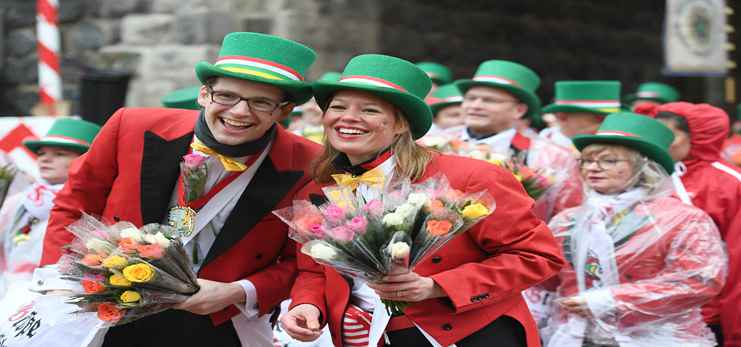 Rose Monday carnival parade held in Cologne, Germany