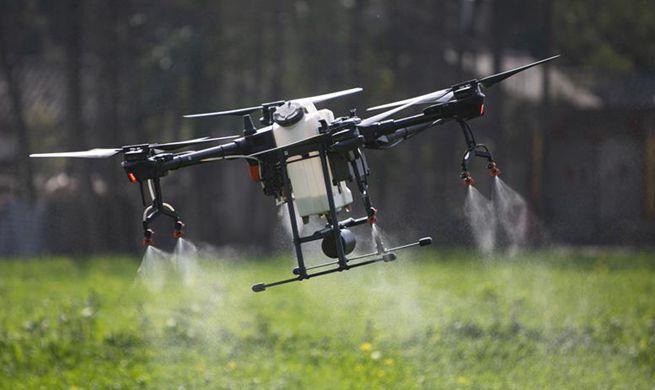 Intelligent equipment used in farmland amid epidemic control in Sichuan