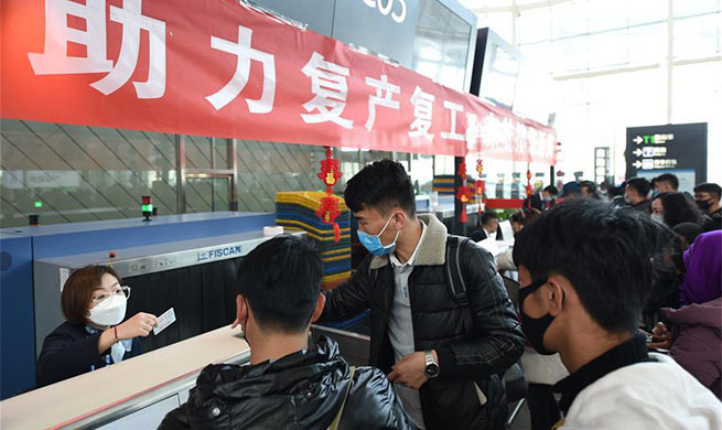 Charter flight brings migrant workers from Lanzhou to Nanchang