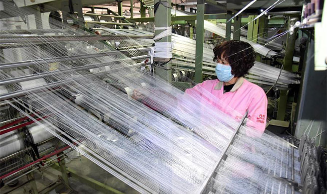 Factory resumes production of face mask earloop to aid epidemic fight