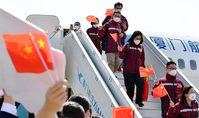Medical workers from Fujian return home after finishing tasks in Hubei