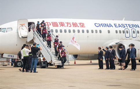 Chinese medical team arrives in Laos to help fight COVID-19