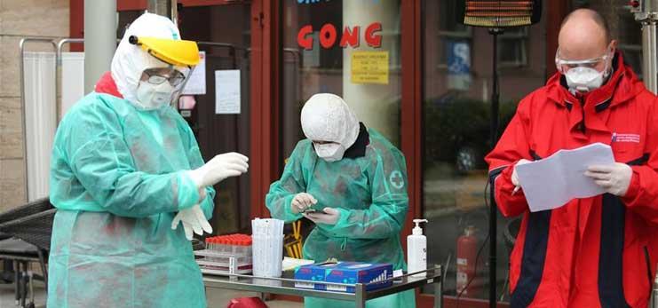 Croatia's capital launches drive-in testing for coronavirus