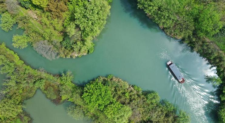 Scenery of Xixi National Wetland Park in Hangzhou, E China's Zhejiang