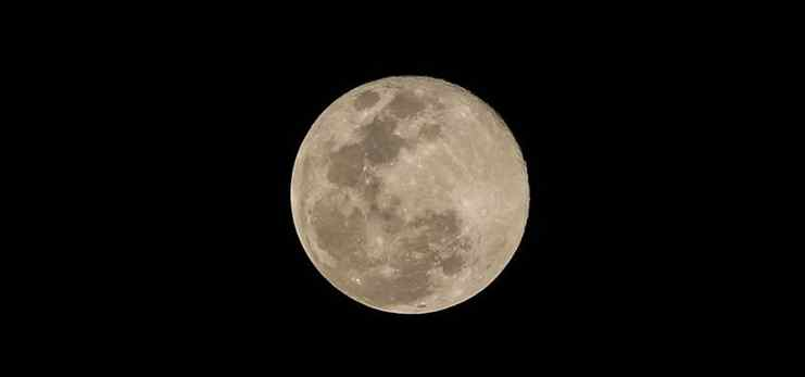 Supermoon seen over sky of Quezon City, the Philippines