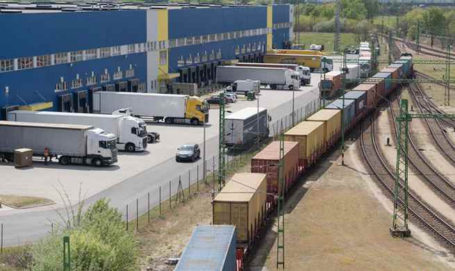 China-Europe freight train with medical supplies arrives in Budapest