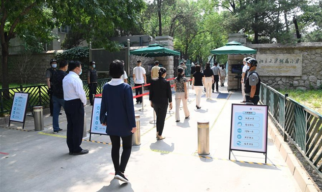 Epidemic prevention drill conducted to ensure safe return of teachers, students at primary school in Beijing
