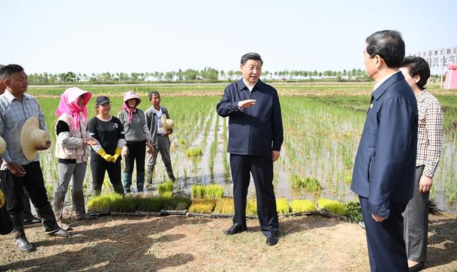 Xi in Yinchuan for inspection