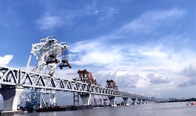 Another span of Bangladesh's largest Padma Bridge installed
