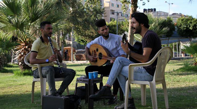 Young musicians spread hope in streets of Israeli-blockaded Gaza
