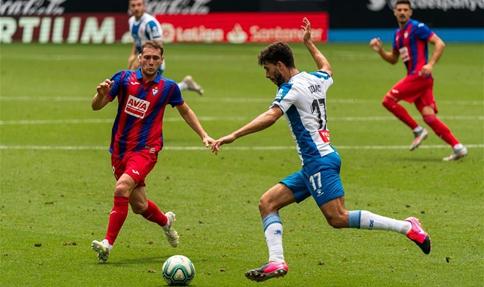 Spanish league football match: RCD Espanyol vs. SD Eibar