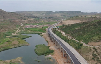 Highway under construction to help NW China county shake off poverty