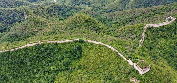 View of Hongyukou section of Great Wall in N China